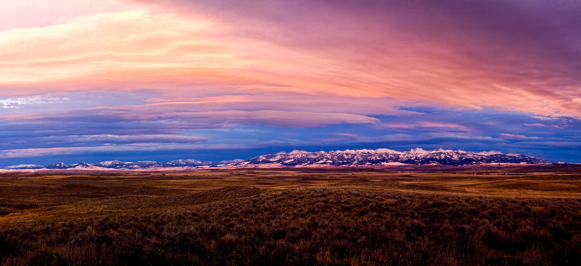 DAP landscape Crazy Mountains sunset