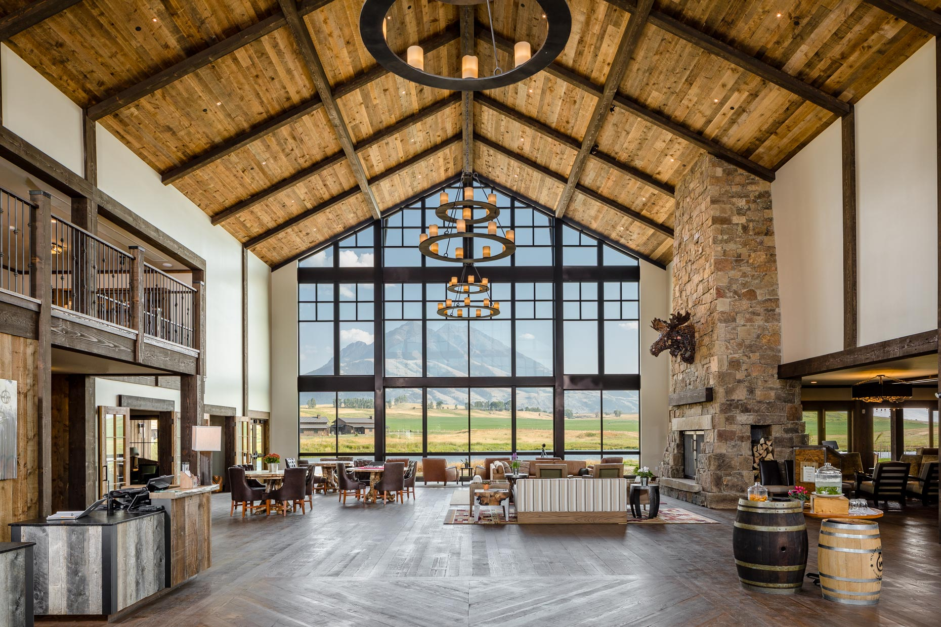 architecture sage lodge Montana great room