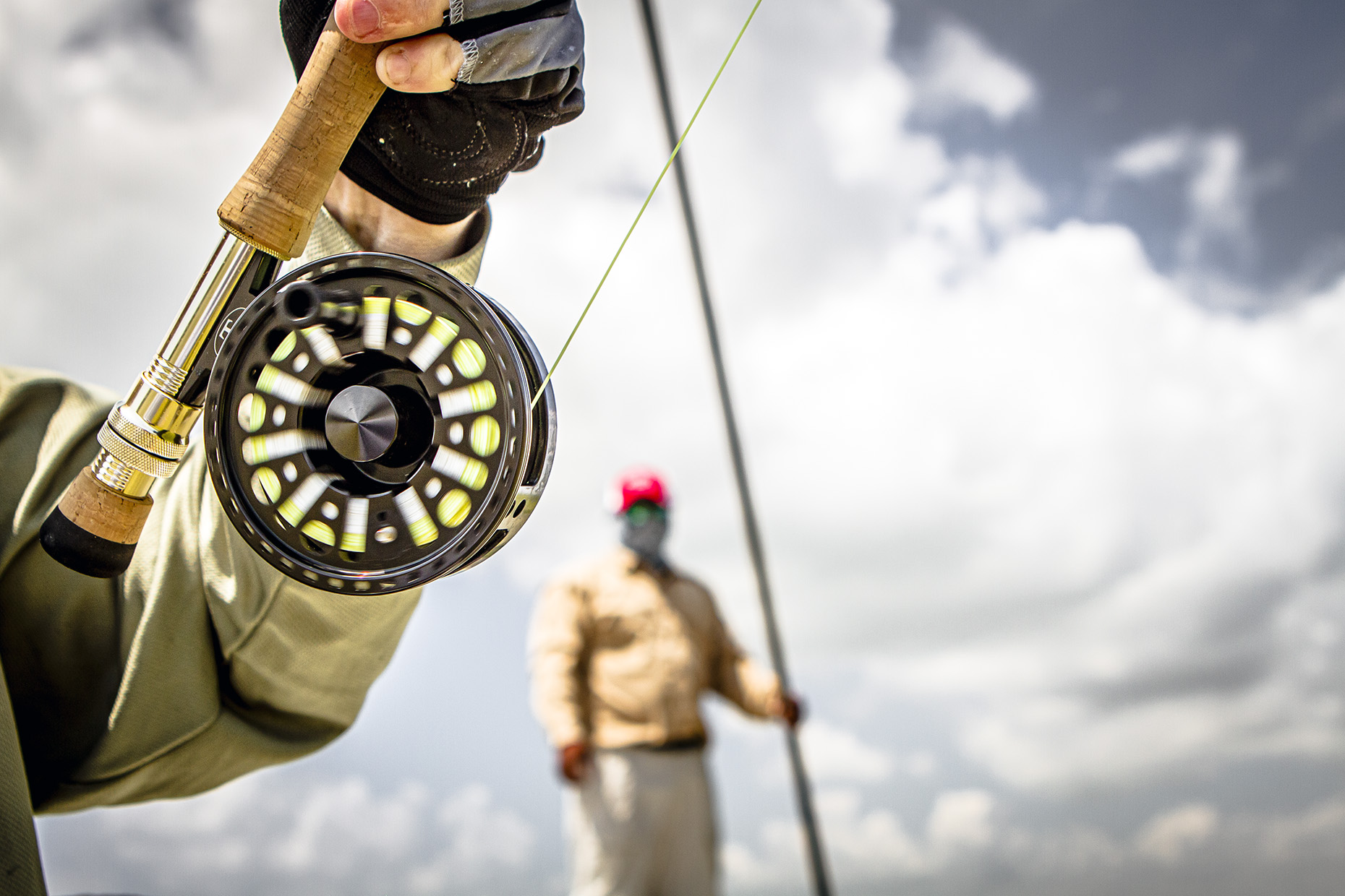 DAP sport fly fishing salt water flats Mexico reel
